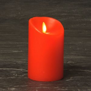 "3"" x 4.4"" Summer Red Luminara Candle SLUM345-R"