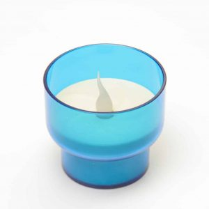 Blue Candle Holder
