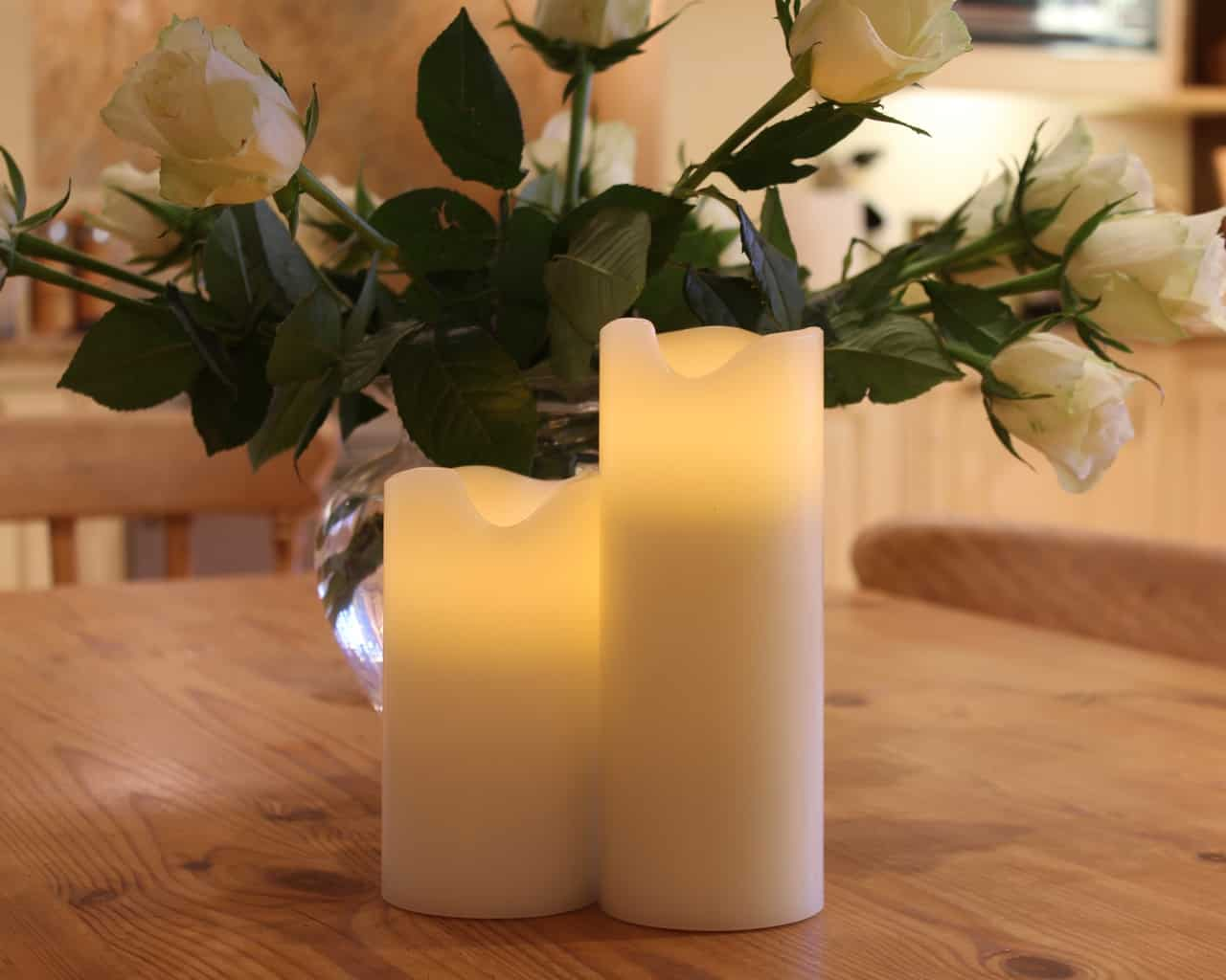 Battery Wax Pillar LED Candles