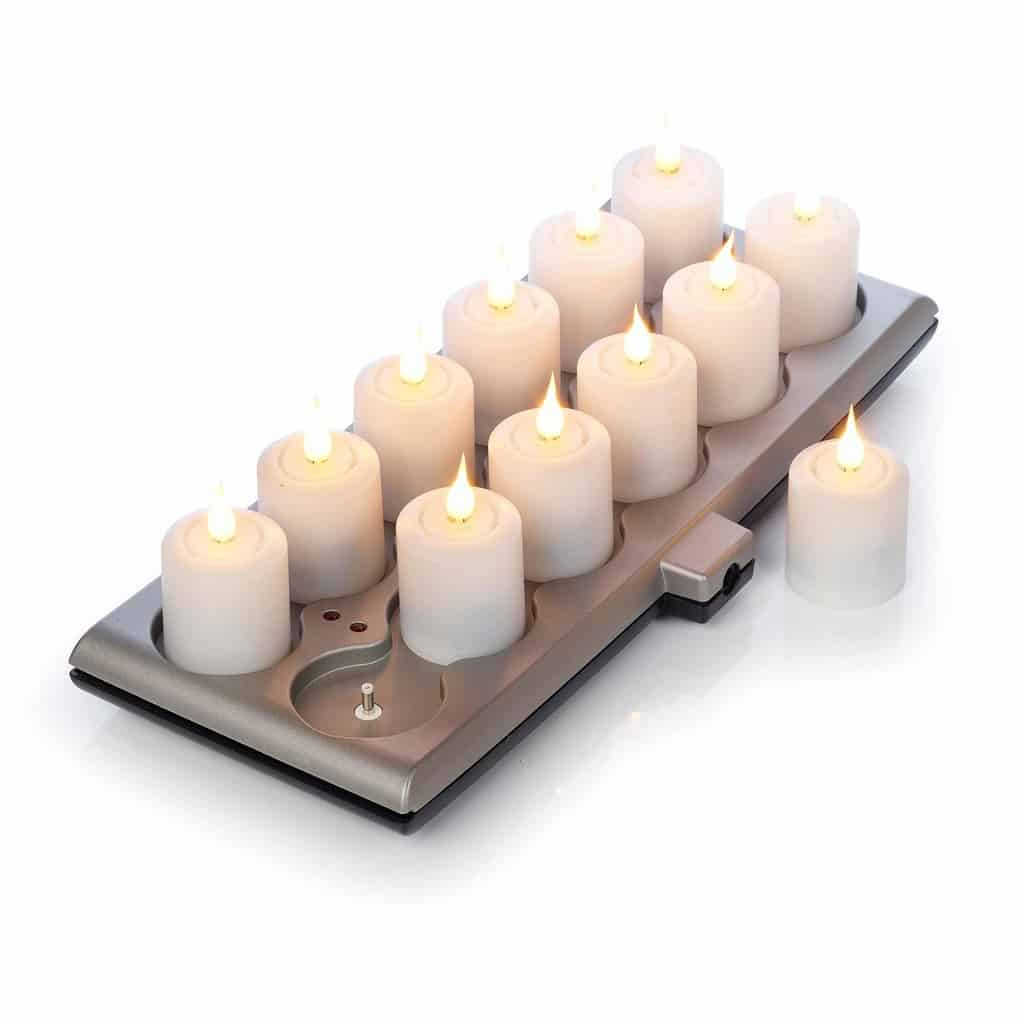 Smart Flame Rechargeable Votive Candles